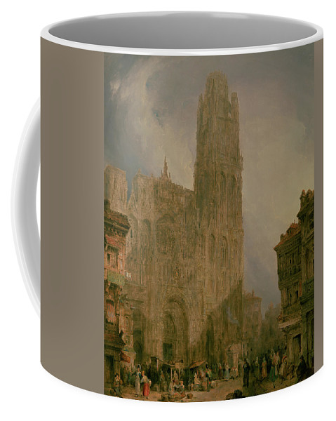 West Coffee Mug featuring the painting West Front Of Notre Dame by David Roberts