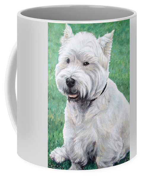 Dog Coffee Mug featuring the painting West Highland Terrier by Nicole Zeug