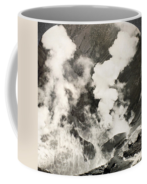 1890 Coffee Mug featuring the photograph West Indies: Volcano by Granger