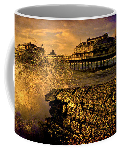 Brighton Coffee Mug featuring the photograph West Pier Splash by Chris Lord