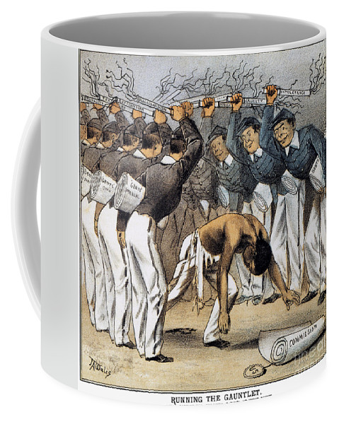 1880 Coffee Mug featuring the photograph West Point Cartoon, 1880 by Granger