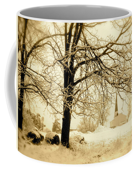 Landscape Coffee Mug featuring the photograph West Shelby Church by Arthur Barnes