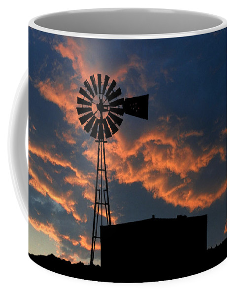 Texas Coffee Mug featuring the photograph West Texas Cattle Tank by Jerry McElroy