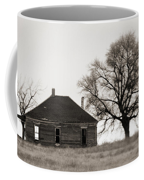 Texas Coffee Mug featuring the photograph West Texas Winter by Marilyn Hunt