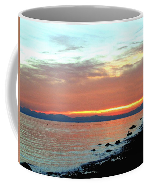 Sunset Coffee Mug featuring the photograph West Vancouver Sunset by Will Borden