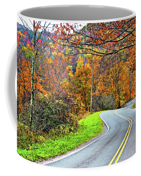 West Virginia Coffee Mug featuring the photograph West Virginia Curves by Steve Harrington