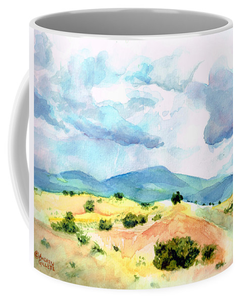 Landscape Coffee Mug featuring the painting Western Landscape by Andrew Gillette