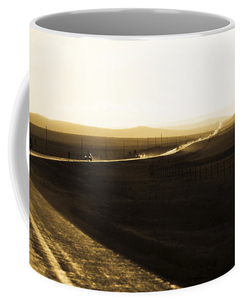 Rain Coffee Mug featuring the photograph Western Rain by Marilyn Hunt