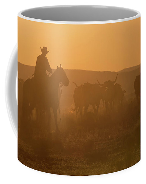 Ranch Coffee Mug featuring the photograph Western Roundup Number 1 by Steve Gadomski