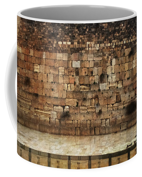 Western Wall Coffee Mug featuring the photograph Empty Western Wall by Doc Braham