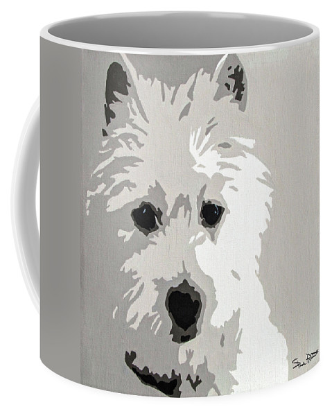 Westie Coffee Mug featuring the painting Westie by Slade Roberts