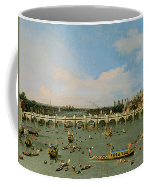 Xyc118509 Coffee Mug featuring the photograph Westminster Bridge - London by Giovanni Antonio Canaletto