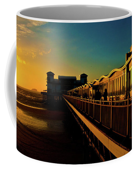 Weston Coffee Mug featuring the photograph Weston Pier At Sunset by Rob Hawkins