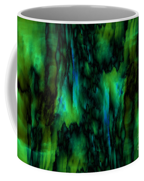 Abstract Coffee Mug featuring the digital art Wet Colors by Michal Boubin