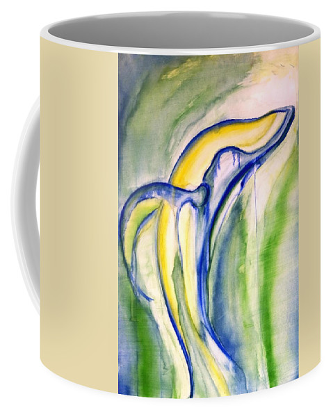 Watercolor Coffee Mug featuring the painting Whale by Sheridan Furrer