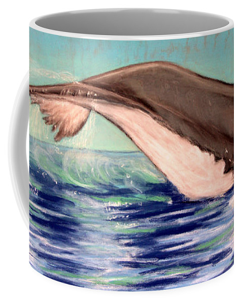 Whale Coffee Mug featuring the photograph Whale Tail  Pastel  Sold by Antonia Citrino