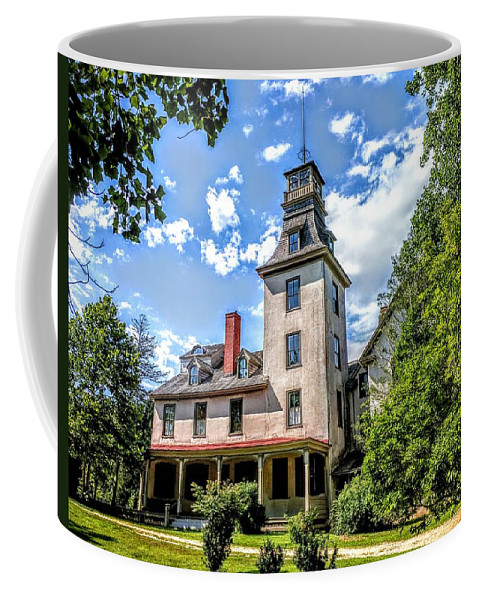 Batsto Coffee Mug featuring the photograph Wharton Mansion by Paul Kercher