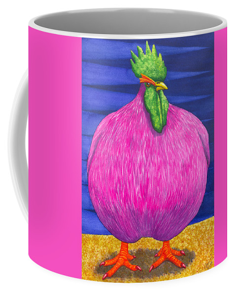 Rooster Coffee Mug featuring the painting What Are You Lookin At by Catherine G McElroy