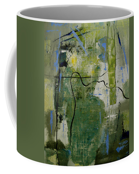 Abstract Coffee Mug featuring the painting What Counts Is A New Creation by Ruth Palmer