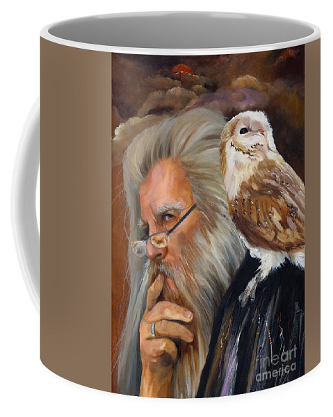 Wizard Coffee Mug featuring the painting What If... by J W Baker