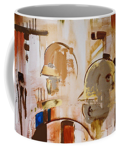 Abstract Coffee Mug featuring the painting What Is Identity by Stephen Lucas