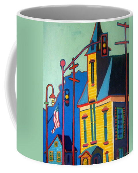 Landscape Coffee Mug featuring the painting What Once was Old is Now New Again CCA by Debra Bretton Robinson