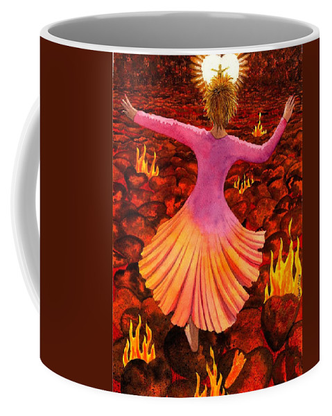 Valentine Coffee Mug featuring the painting What We Do For Love by Catherine G McElroy
