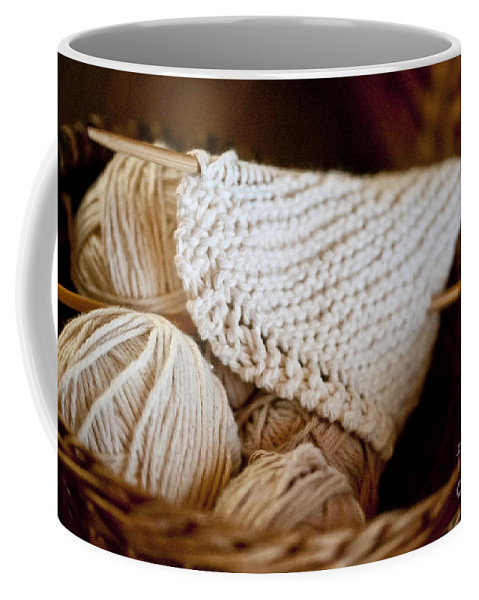 Yarn Coffee Mug featuring the photograph What Will It Be by Wilma Birdwell