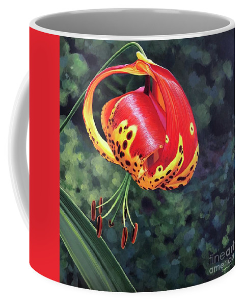 Tigerlily Coffee Mug featuring the painting What's Up, Tigerlily? by Hunter Jay