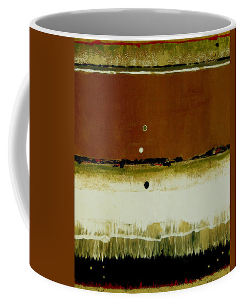 Abstract Coffee Mug featuring the painting Whats Your Line by Ruth Palmer
