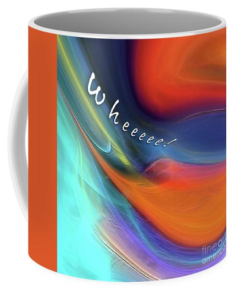 Margie Chapman Coffee Mug featuring the digital art Wheeeee by Margie Chapman