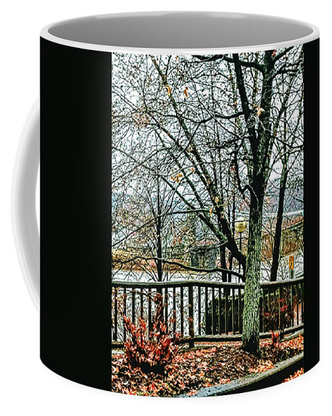 Coffee Mug featuring the photograph Wheeling Waterfront by Lorie Kash