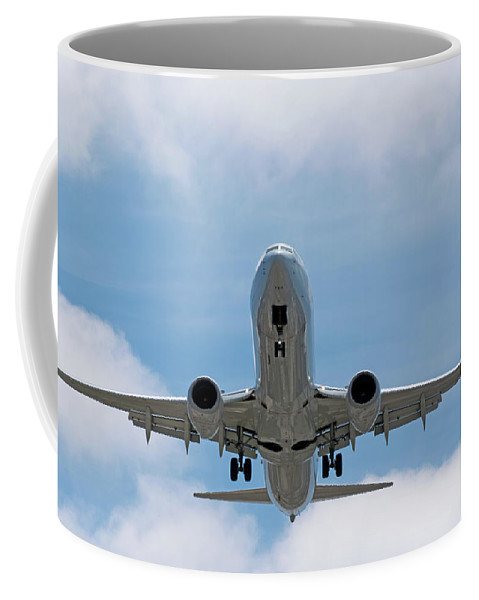 Wheels And Flaps Down Coffee Mug featuring the photograph Wheels And Flaps Down by Robert VanDerWal