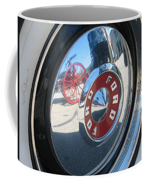 Ford Coffee Mug featuring the photograph Wheels by Kelly Mezzapelle