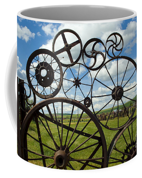 Wheels Coffee Mug featuring the photograph Wheels by Louise Magno