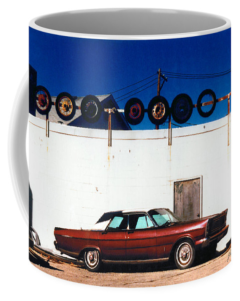 Cars Coffee Mug featuring the photograph Wheels by Steve Karol