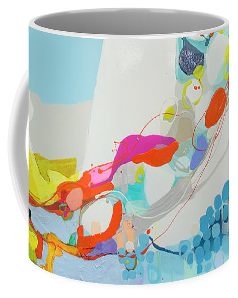Abstract Coffee Mug featuring the painting When Alexa Moved In by Claire Desjardins