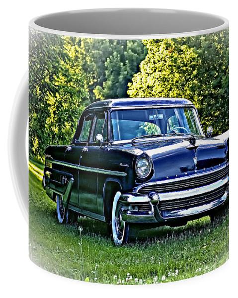 !955 Lincoln Coffee Mug featuring the photograph When Chrome Ruled by Steve Harrington