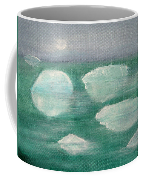 Glaciers Coffee Mug featuring the painting When Glaciers Melt by Alina Cristina Frent
