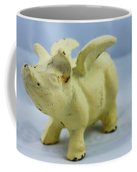 Flying Pigs Coffee Mug featuring the photograph When Pigs Fly by Lisa Kleiner