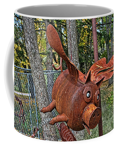 Jurustic Park Coffee Mug featuring the photograph When Pigs Fly by Tommy Anderson