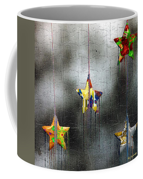 Stars Coffee Mug featuring the painting When Stars Melt Down by RC deWinter