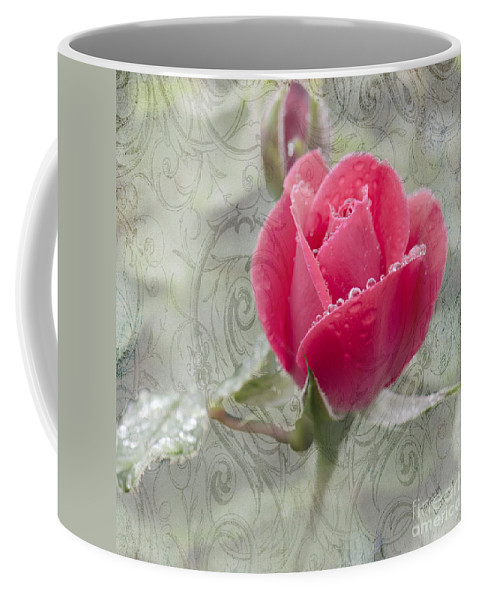Rose Coffee Mug featuring the photograph When The Dew Is On The Rose by Betty LaRue