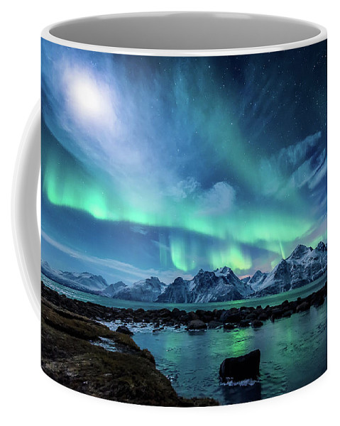Moon Coffee Mug featuring the photograph When The Moon Shines by Tor-Ivar Naess
