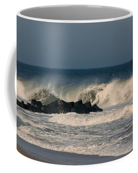 Jersey Shore Coffee Mug featuring the photograph When The Ocean Speaks - Jersey Shore by Angie Tirado