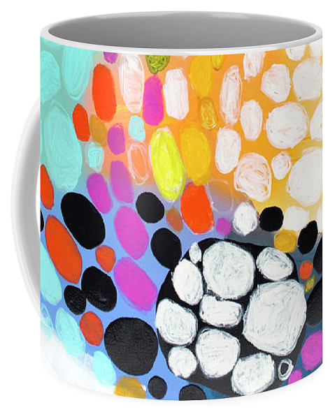 Abstract Coffee Mug featuring the painting When You Get Home by Claire Desjardins