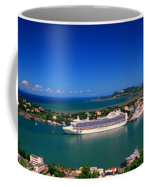 St. Lucia Coffee Mug featuring the photograph Where Are My People by Gary Wonning