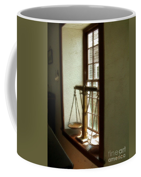 Window Coffee Mug featuring the painting Where Be His Quiddits Now? by RC deWinter