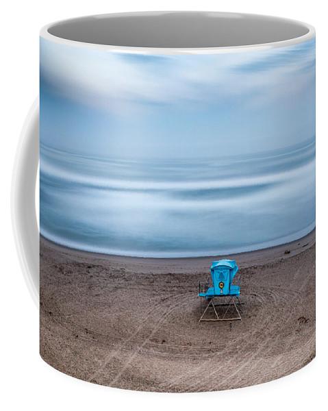 Califorina State Beach Coffee Mug featuring the photograph Where Hero's Wait by Joe Azevedo