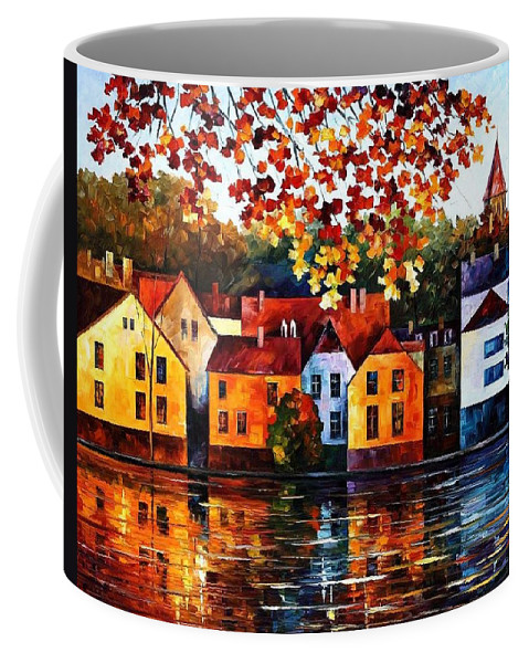 Afremov Coffee Mug featuring the painting Where I Grew Up by Leonid Afremov